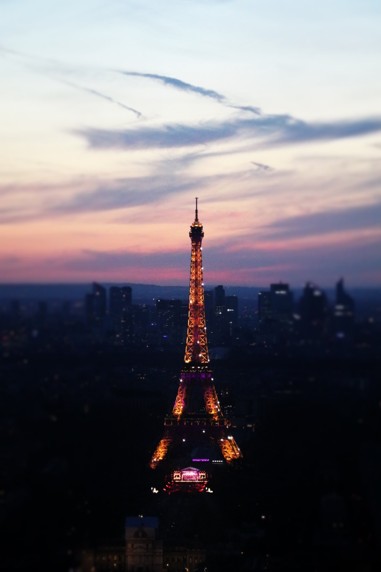 tour eiffel-Montparnasse-Eiffel-Tower-Bastille-Day-evening-Iron-Lady-of-France-giftofparis.com