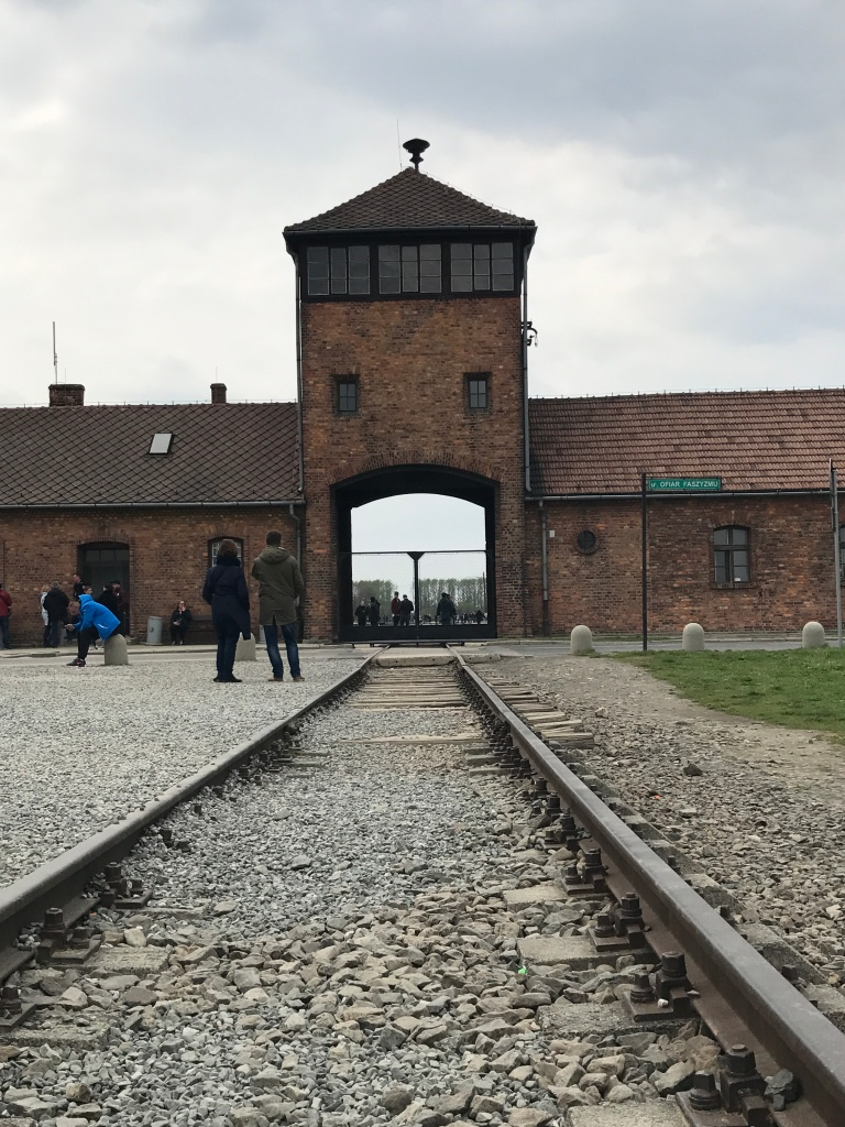 Auschwitz-Birkenau-The Door of Death at Auschwitz II-train-railways-giftofparis.com